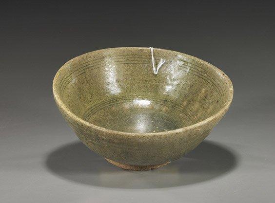 3: Antique Sawankholok Celadon Glazed Bowl