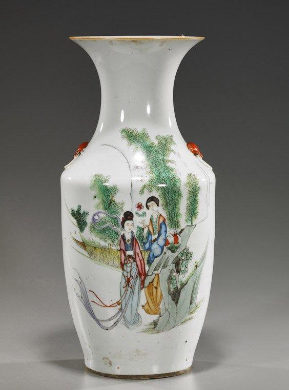 4: Old Chinese Ovoid Porcelain Vase