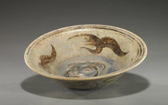 5: Antique Chinese Glazed Pottery Bowl