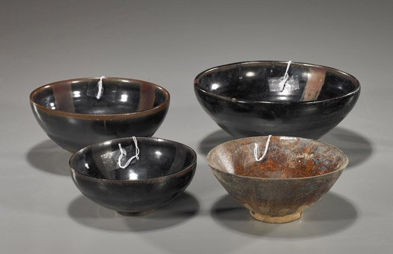 6: Group of Four Chinese Glazed Bowls