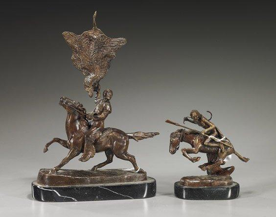 7: Two Small Remington-Style Bronzes