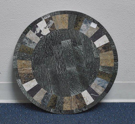 10: Small Circular Mosaic Stone Tabletop