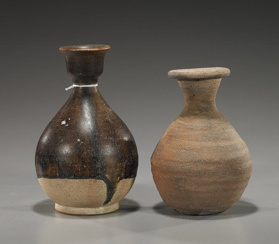 11: Two Antique Southeast Asian Pottery Vases