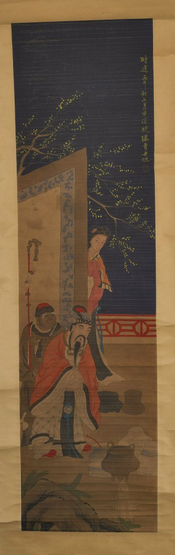 13: Two Chinese Figural Paper Scrolls