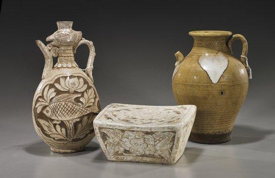 16: Three Various Chinese Glazed Ceramics