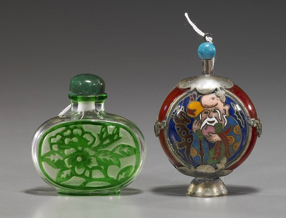 3: Two Chinese Glass Snuff Bottles