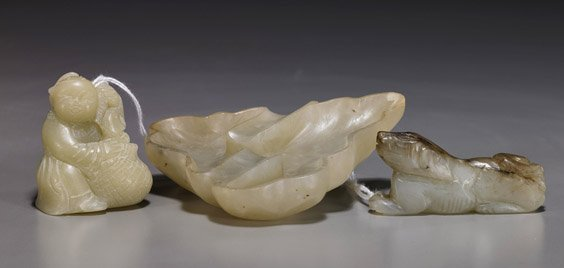 3A: Three Chinese Carved Hardstones