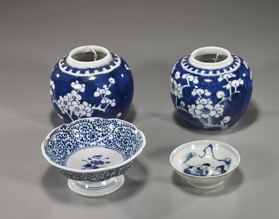 7: Group Various Blue & White Porcelains