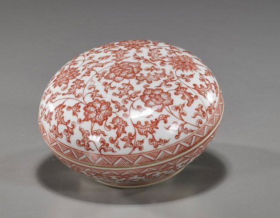 10A: Chinese Porcelain Seal Paste Box