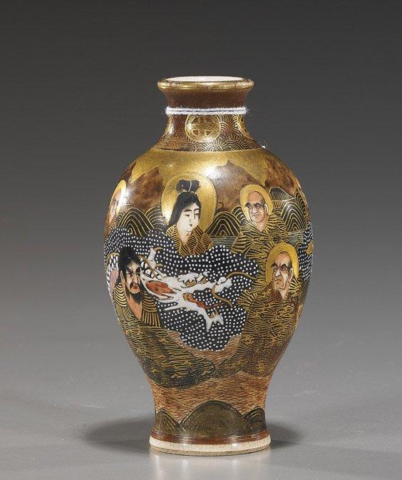 13: Antique Japanese Miniature Satsuma Vase