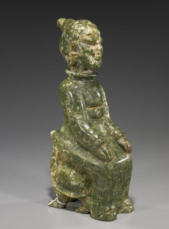 15: Chinese Hardstone Carving: Figure on Turtle