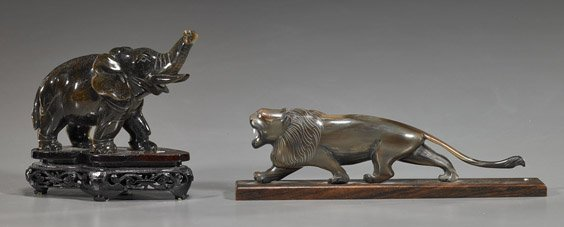 6: Two Various Chinese Carved Animals