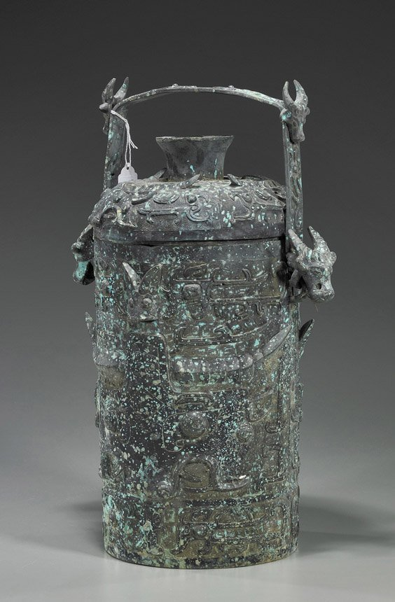 8: Tall Chinese Archaistic Bronze Vessel