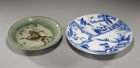 19: Two Various Japanese Ceramic Plates