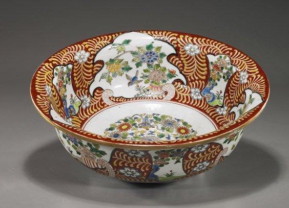 21: Antique Japanese Imari Porcelain Bowl