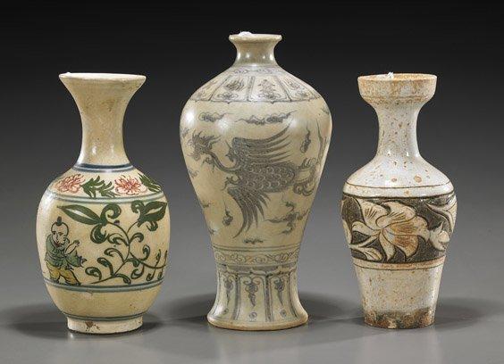 Three Various Chinese Ceramic Vases