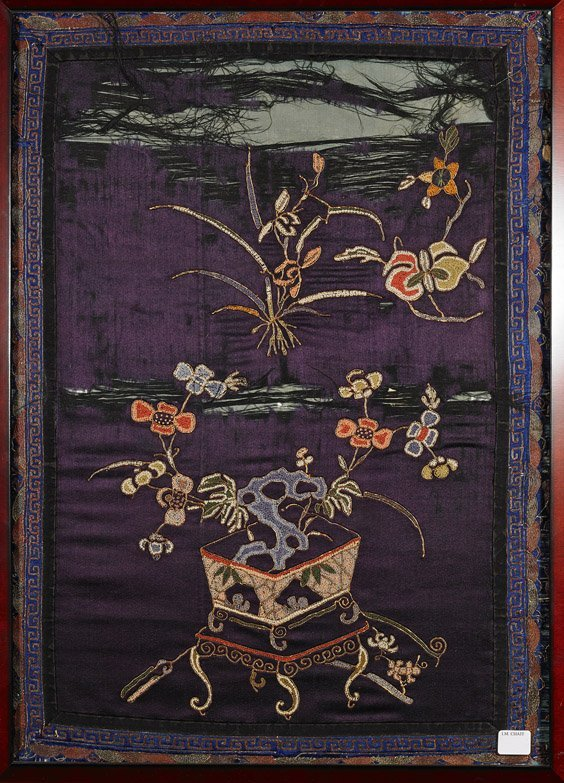 Framed Chinese Silk Embroidery Panel