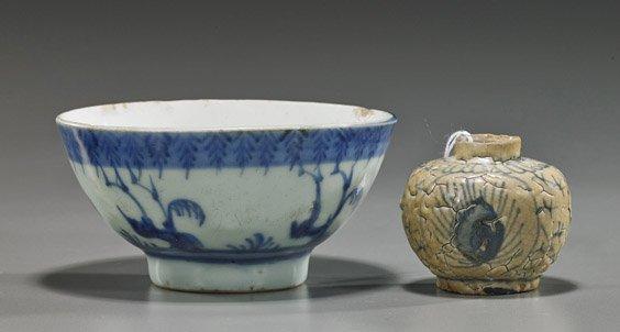 Two Antique Asian Blue & Whites