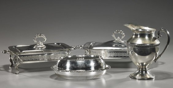 Group of Silver Plated Serving Pieces