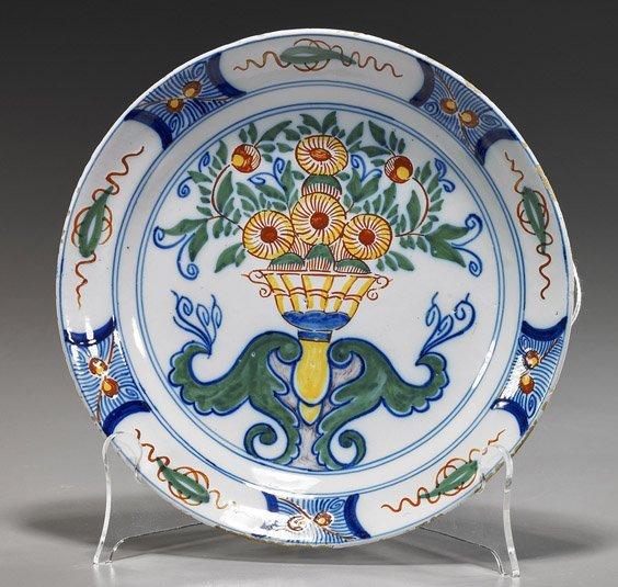 Unusual Antique Dutch Glazed Pottery Dish