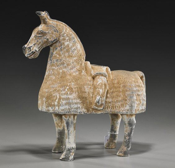 Chinese Northern Qi-Style Pottery Horse
