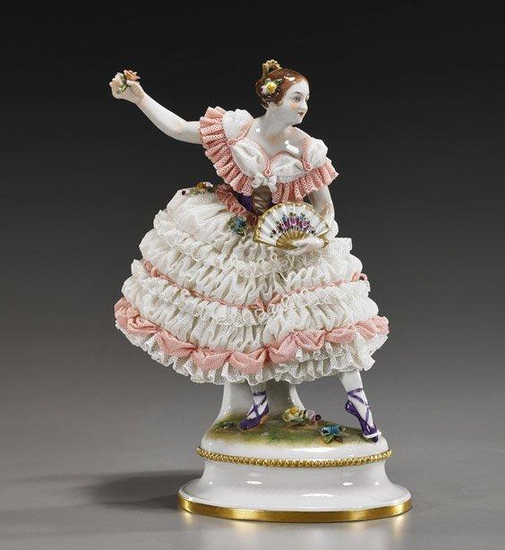German Porcelain Model of a Ballerina