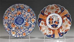 Two Antique Japanese Imari Porcelain Plates
