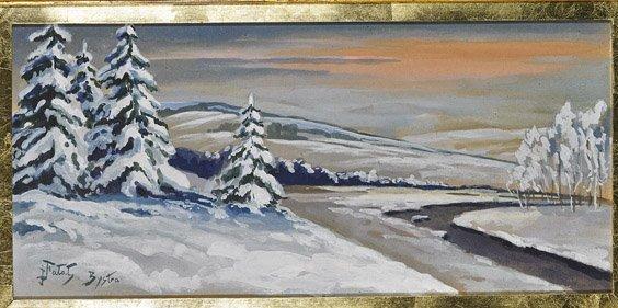 Watercolor/Gouache Landscape Painting