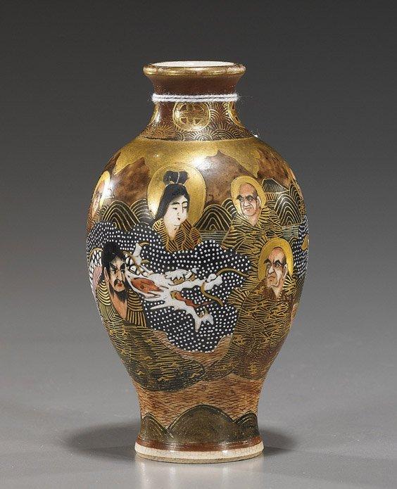 Antique Japanese Miniature Satsuma Vase