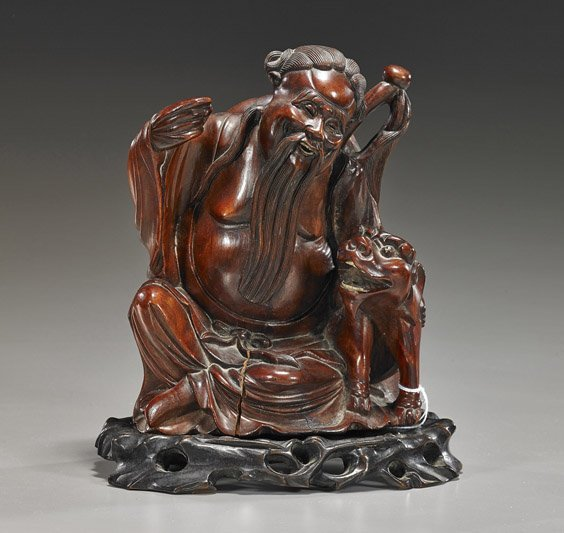 Old Chinese Carved Rosewood Figure