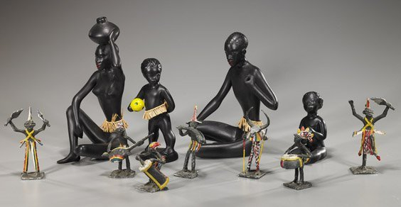 Group of Various African Figures