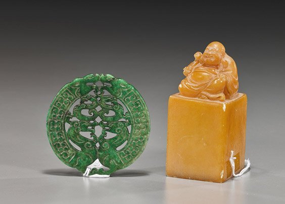 Two Various Chinese Stone Carvings