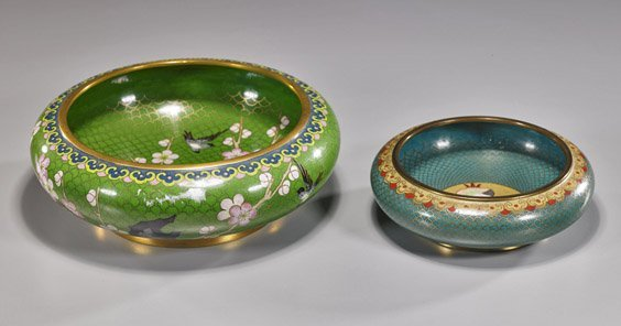 5: Two Chinese Cloisonné Enamel Bowls
