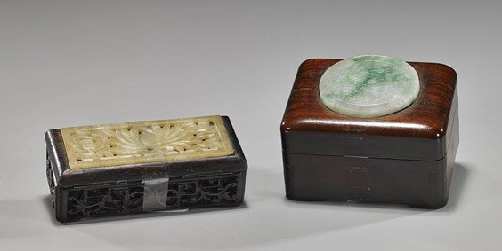 6: Two Small Chinese Covered Boxes