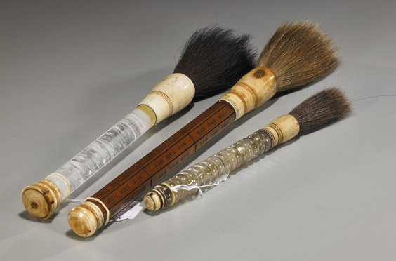 20: Group of 3 Various Chinese Brushes