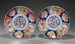 99: Pair Antique Imari Porcelain Plates