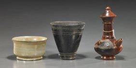 Three Various Ceramic Vessels