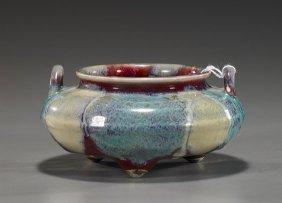 Unusual Chinese Glazed Porcelain Censer
