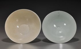 Two Chinese Glazed Porcelain Bowls
