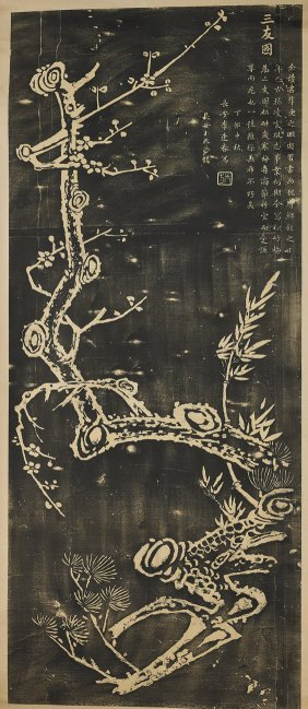 Two Chinese Paper Scrolls: Blossoms