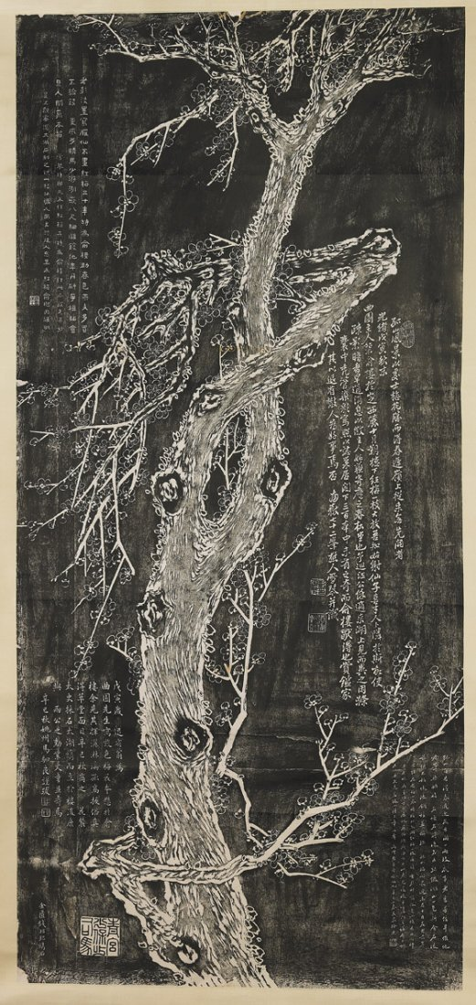 Two Chinese Paper Scrolls: Blossoms - 3