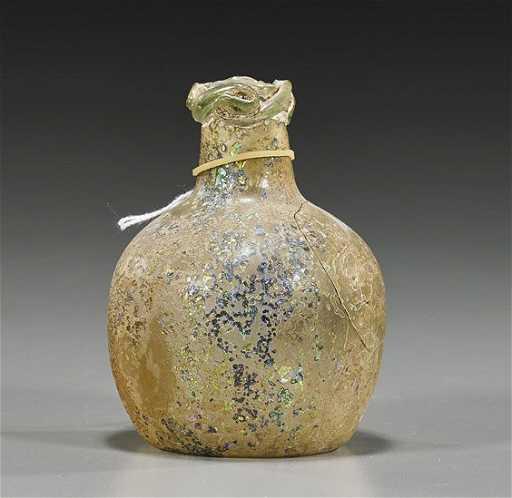 Ancient Egyptian Glass Bottle Vase