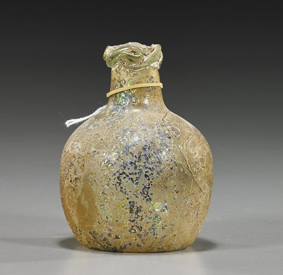 Ancient Egyptian Glass Bottle Vase