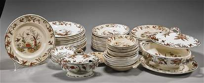 Set of Antique English Porcelain Dinnerware