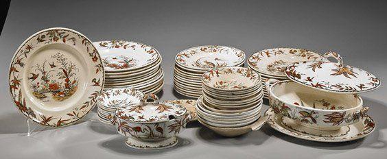 Set of Antique English Porcelain Dinnerware