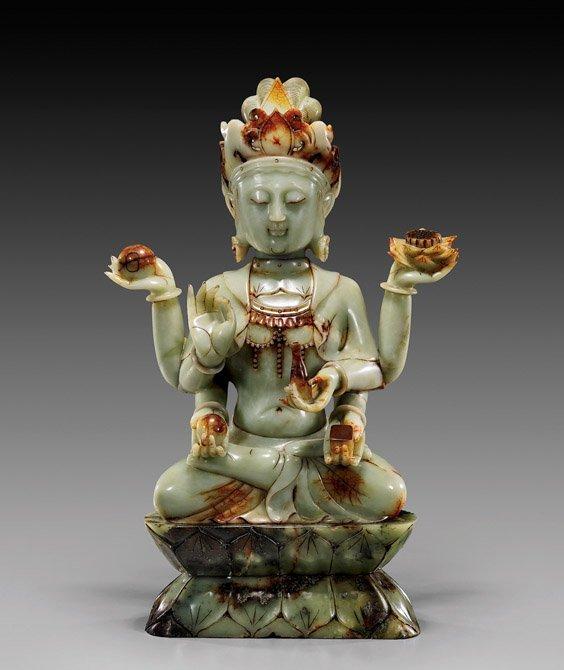 Massive Chinese Carved Hardstone Buddha
