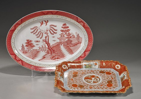 Two Various Japanese Porcelain Dishes