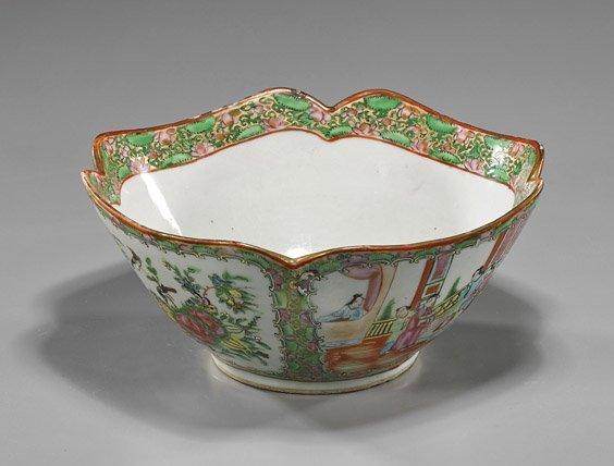 Chinese Rose Medallion Porcelain Bowl