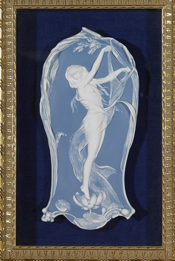 Framed Wedgwood-Like Porcelain Plaque