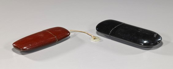 Two Chinese Lacquer Eyeglass Cases